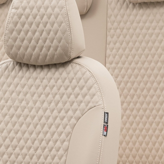 Otom Alfa Romeo 147 2001-2009 Özel Üretim Koltuk Kılıfı Amsterdam Design Deri Bej - Thumbnail