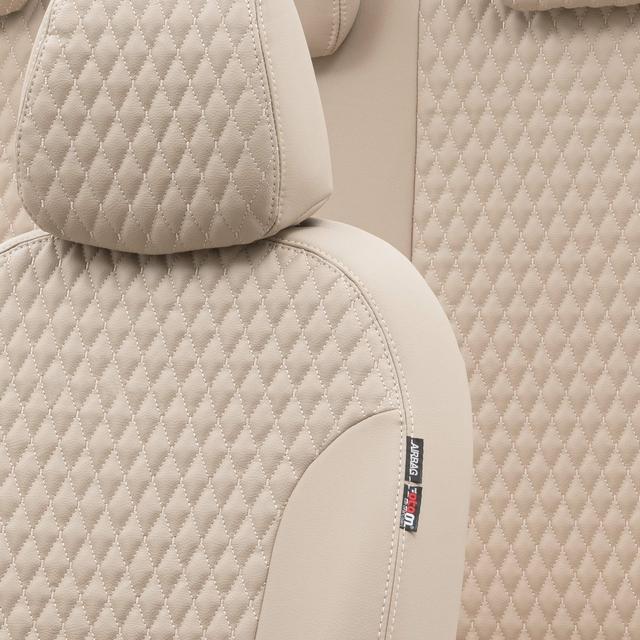 Otom Alfa Romeo 147 2001-2009 Özel Üretim Koltuk Kılıfı Amsterdam Design Deri Bej