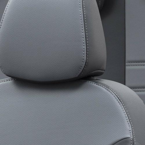 Otom Alfa Romeo 147 2001-2009 Özel Üretim Koltuk Kılıfı İstanbul Design Füme - Siyah - Thumbnail